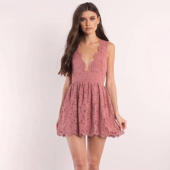 e66b5c3bff5e Blush Lace Skater Dress New With Tags